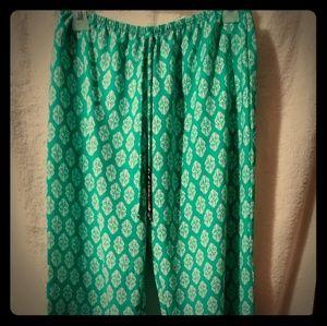 Pants - Damask Print Pants